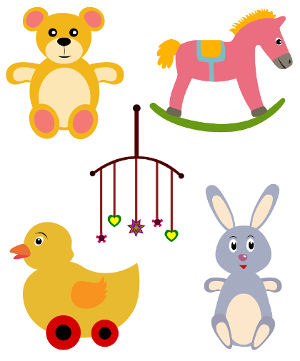 Nice pictures of baby toys 5 in number