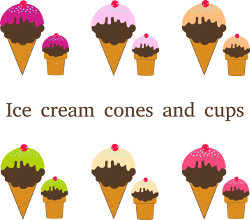 Different types of ice cream