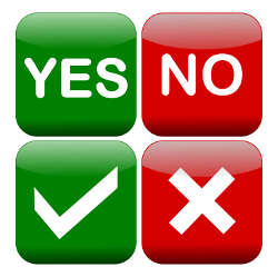 Yes and no buttons illustration