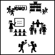 back to school silhouette vector