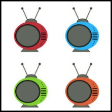 color funky tv vector