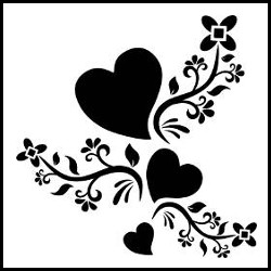 Heart shape design tattoo vector