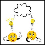 Thinking emoticon person character vector