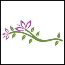 Logo of purple flower vector