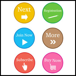 Colourful Register Now Buttons vector