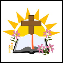 Holy bible with cross vector