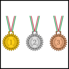 ribbon medals set vector