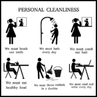 personal cleanliness silhouette vector