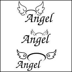 Angel wings icons vector illustration