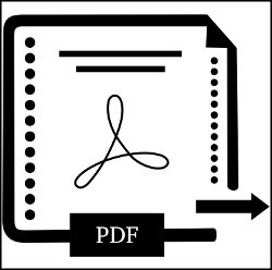 Adobe PDF icon vector illustration