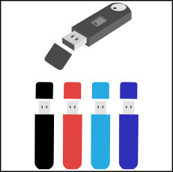 USB flash drive isolated on white vector illustration